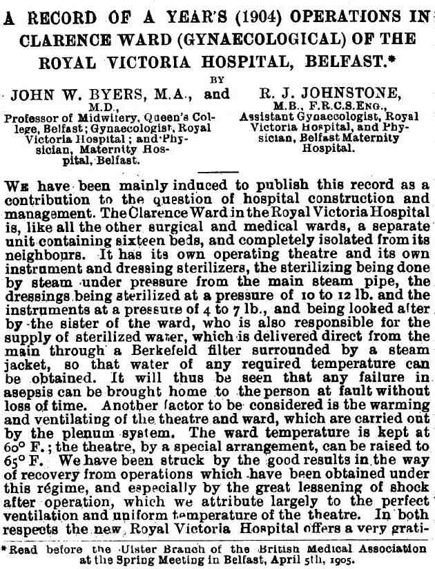 Sir John Byers re operations