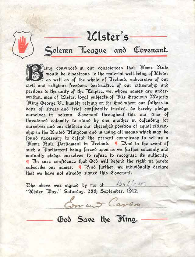 Ulster Covenant 1912